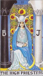 daily tarot card - the high priestess