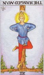daily tarot card - the hanged man reversed